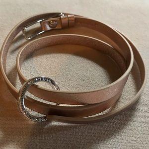 Origami owl rose gold wrap bracelet
